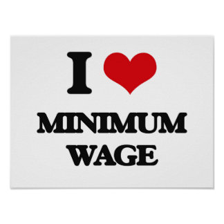 Amo el salario mínimo poster