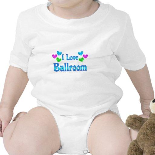 Amo el salón de baile camisetas