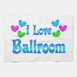 Amo el salón de baile toalla de mano
