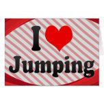 Amo el saltar felicitación