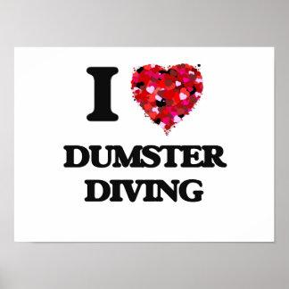 Amo el salto de Dumster Póster