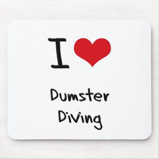 Amo el salto de Dumster Tapete De Ratones