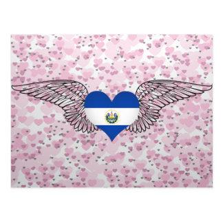 Amo El Salvador - alas Tarjeta Postal