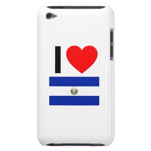 amo El Salvador iPod Touch Case-Mate Cárcasa