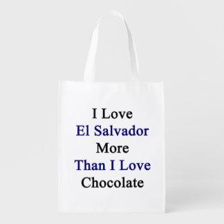 Amo El Salvador más que el chocolate del amor de I Bolsas Para La Compra