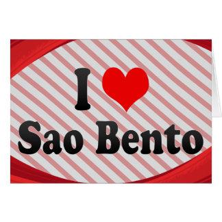 Amo el sao Bento, el Brasil Felicitación