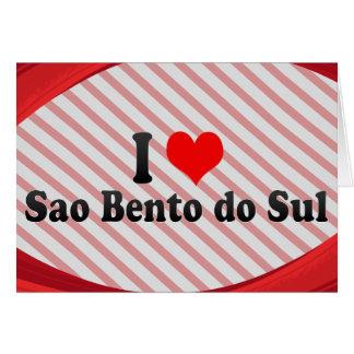 Amo el sao Bento hago Sul, el Brasil Felicitacion
