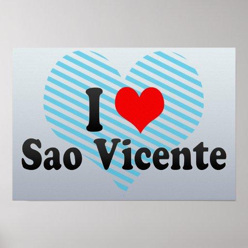 Amo el sao Vicente, el Brasil Impresiones