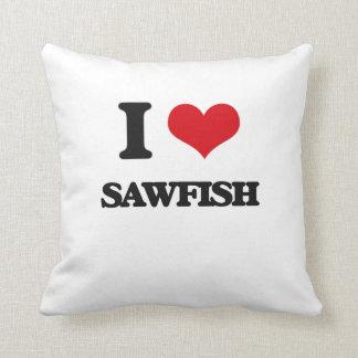Amo el Sawfish Cojín