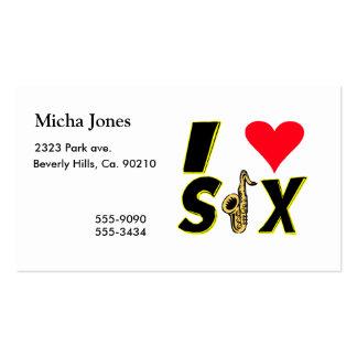 Amo el saxofón tarjetas de visita