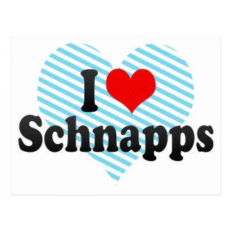 Amo el Schnapps Tarjeta Postal
