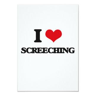 Amo el Screeching Invitación 8,9 X 12,7 Cm