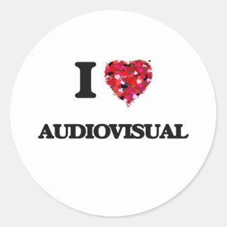 Amo el sector audiovisual pegatina redonda
