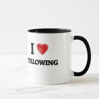 Amo el seguir taza