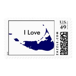 Amo el sello azul de Nantucket