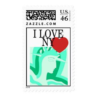 Amo el sello de la estatua de la libertad de Nueva