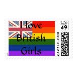 Amo el sello de los chicas de Britsh