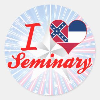 Amo el seminario, Mississippi Etiquetas Redondas