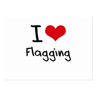 Amo el señalar por medio de una bandera tarjetas de visita grandes