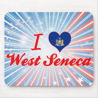 Amo el Seneca del oeste, Nueva York Tapetes De Raton