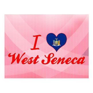 Amo el Seneca del oeste, Nueva York Tarjetas Postales