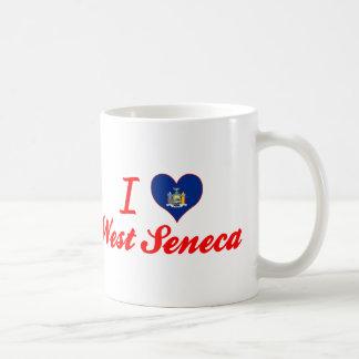 Amo el Seneca del oeste, Nueva York Taza Clásica