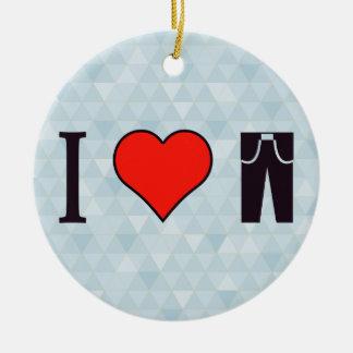 Amo el sentir casual con todo con clase adorno navideño redondo de cerámica