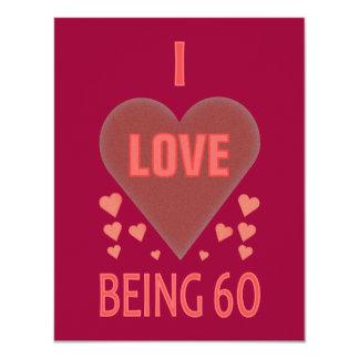 Amo el ser 60 invitación 10,8 x 13,9 cm