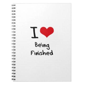 Amo el ser acabado libreta