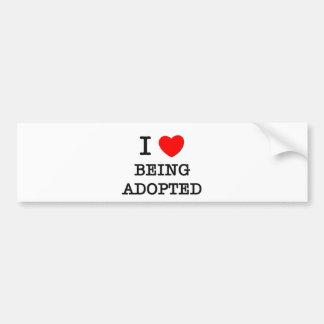 Amo el ser adoptado etiqueta de parachoque