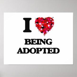 Amo el ser adoptado póster