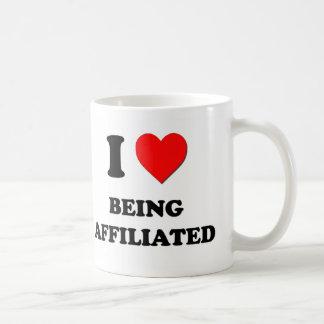 Amo el ser afiliado tazas de café