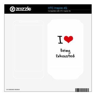 Amo el ser agotado HTC inspire 4G calcomanía