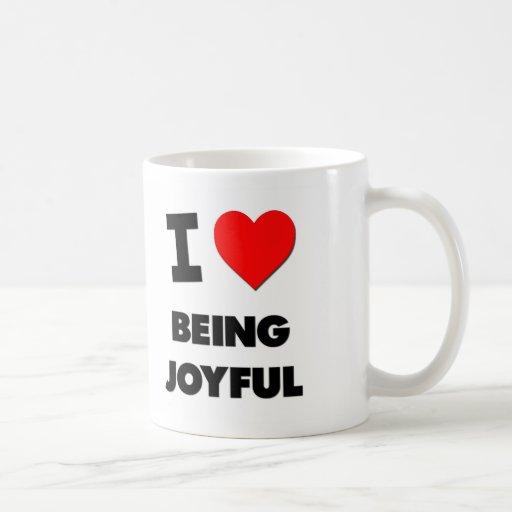 Amo el ser alegre tazas de café