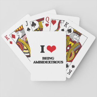 Amo el ser ambidextro baraja de póquer