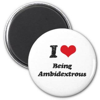 Amo el ser ambidextro imán para frigorifico