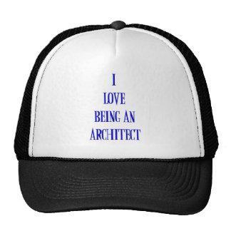 Amo el ser arquitecto gorros bordados