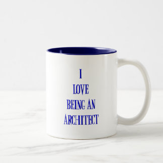 Amo el ser arquitecto taza de dos tonos