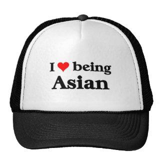 Amo el ser asiático gorro
