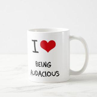 Amo el ser audaz tazas de café