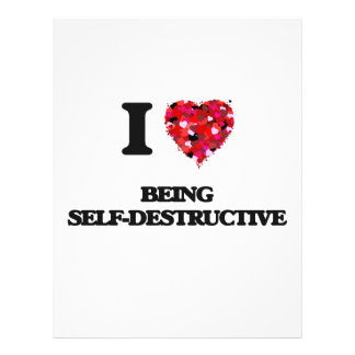 "Amo el ser autodestructivo folleto 8.5"" x 11"""