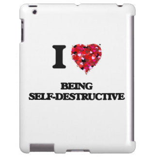 Amo el ser autodestructivo funda para iPad