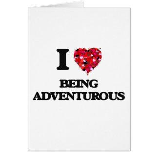 Amo el ser aventurero tarjeta de felicitación