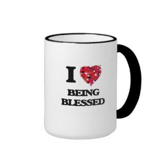 Amo el ser bendecido taza de dos colores