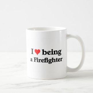 Amo el ser bombero taza clásica