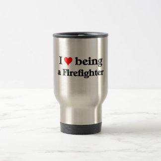 Amo el ser bombero taza térmica