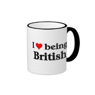 Amo el ser británico taza de dos colores