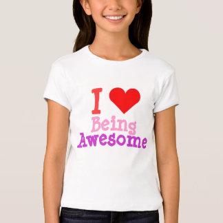 Amo el ser camisa impresionante del corazón