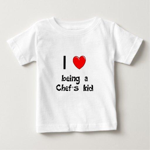 Amo el ser camiseta del niño de un cocinero
