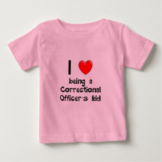 Amo el ser camiseta del niño de un oficial remeras